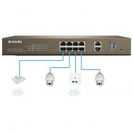 Switch PoE Desktop Web Smart 8 Porte 10/100+2GE+2SFP Combo, TEF1210P