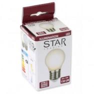 Lampada LED E27 Smerigliata Bianco Caldo 2W Filamento Classe A+