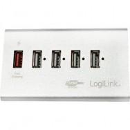 Hub USB 5 Porte in Alluminio con Ricarica Veloce