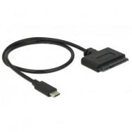 Cavo Convertitore da USB-C a SATA 22 pin Maschio 50cm Nero