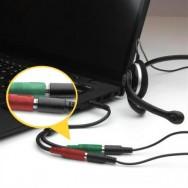 Cavo Sdoppiatore Microfono Cuffia jack 3,5'' per Smartphone e Notebook