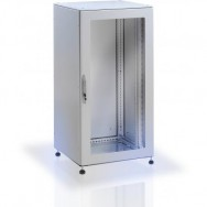 Armadio rack 19'' a pavimento 25U grigio IP55 porta vetro