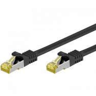 Cavo Patch Cat.7 Plug RJ45 6A S/FTP LSZH 20m Nero