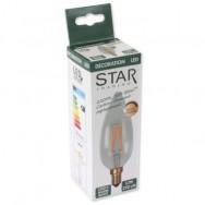 Lampada LED Candela E14 Bianco Caldo 3,2W Filamento Dimmerabile A+
