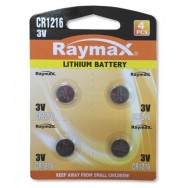 Batterie a bottone Litio CR1216 (set 4 pz)