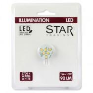 Lampada 6 LED SMD G4 1W 90 Lumen Bianco Caldo A++