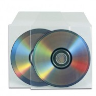 Buste Porta CD/DVD in PPL 100 Micron Con Aletta 100 pz
