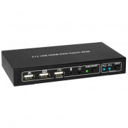 KVM switch 2x1 con USB e HDMI