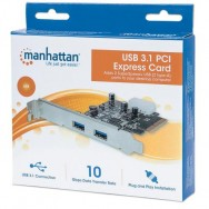 Scheda PCI Express 2 Porte USB3.1 SuperSpeed+