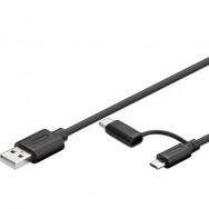 Cavo USB A / Micro B con Adattatore USB-C